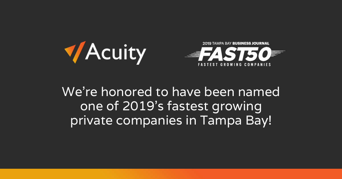 Acuity Technologies Honored as a Member of 2019's Fast 50